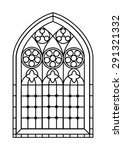 a gothic style stained glass... | Shutterstock .eps vector #291321332