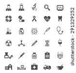 set of medical icons on white.... | Shutterstock . vector #291329252