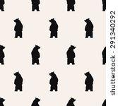 seamless pattern  bear vector... | Shutterstock .eps vector #291340292