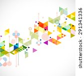 abstract colorful and creative... | Shutterstock .eps vector #291341336