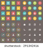 business flat icon set | Shutterstock . vector #291342416