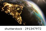 planet earth asia zone.... | Shutterstock . vector #291347972