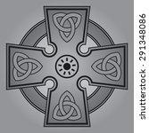celtic cross   Shutterstock .eps vector #291348086