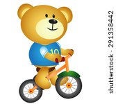 bear with three cycle | Shutterstock . vector #291358442