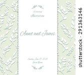 vintage card or wedding... | Shutterstock .eps vector #291363146