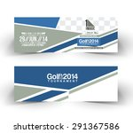 golf cup header   banner design   Shutterstock .eps vector #291367586