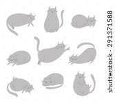 Sleepy Cat Vector Set....