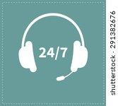 headphones with microphone non...   Shutterstock .eps vector #291382676