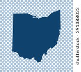 map of ohio | Shutterstock .eps vector #291388022
