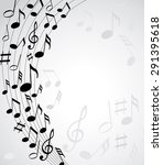music notes on a solide white... | Shutterstock .eps vector #291395618