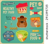 pet shop card. flat design... | Shutterstock .eps vector #291395735
