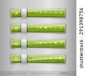 modern business tabs for... | Shutterstock .eps vector #291398756