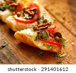 sandwich with tomatoes  capers  ... | Shutterstock . vector #291401612