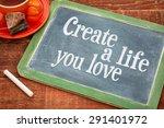 create life you love... | Shutterstock . vector #291401972