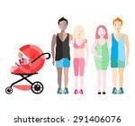 vector illustration of happy ... | Shutterstock .eps vector #291406076