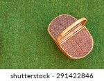 wicker picnic basket on the... | Shutterstock . vector #291422846