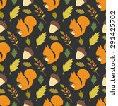Seamless Forest Pattern With...