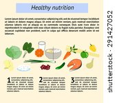 infographics healthy nutrition... | Shutterstock .eps vector #291427052