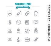 medicine linear icons set.... | Shutterstock .eps vector #291431312