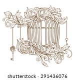 openwork cage with vignettes... | Shutterstock .eps vector #291436076