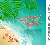 welcome to the beach... | Shutterstock .eps vector #291437042