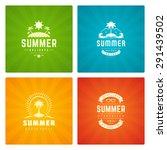 summer holidays labels design... | Shutterstock .eps vector #291439502