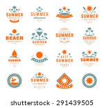 summer holidays labels design... | Shutterstock .eps vector #291439505
