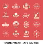 summer holidays labels design... | Shutterstock .eps vector #291439508