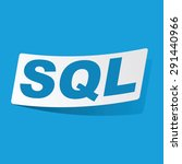 sticker with text sql  isolated ...