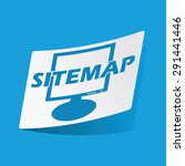 sticker with sitemap icon ...