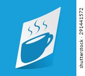 sticker with hot drink icon ...
