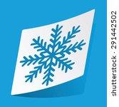 sticker with snowflake icon ...