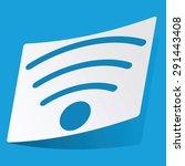 sticker with wi fi icon ...