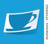 sticker with cup icon  isolated ...