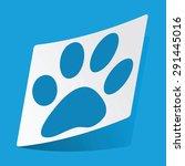 sticker with paw print icon ...