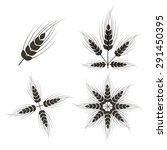 vector ears of wheat set... | Shutterstock .eps vector #291450395