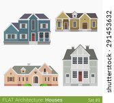 flat style modern buildings... | Shutterstock .eps vector #291453632