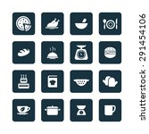 cooking icons universal set for ... | Shutterstock .eps vector #291454106