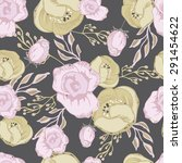 seamless  floral pattern... | Shutterstock .eps vector #291454622