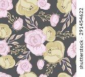 seamless  floral pattern... | Shutterstock .eps vector #291454622