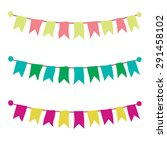 multicolored bright buntings... | Shutterstock .eps vector #291458102