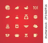 cooking icons universal set for ... | Shutterstock .eps vector #291460916