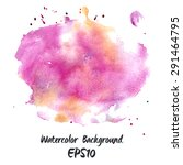 watercolor hand painted... | Shutterstock .eps vector #291464795
