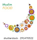 muslim food | Shutterstock .eps vector #291470522