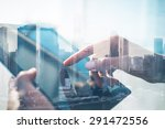 double exposure of city and... | Shutterstock . vector #291472556