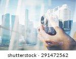 mock up of the retro camera.... | Shutterstock . vector #291472562