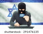 cybercrime concept with flag on ... | Shutterstock . vector #291476135