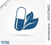 capsule natural medicine  eco ... | Shutterstock .eps vector #291479852