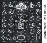 doodles lettering ampersands... | Shutterstock .eps vector #291484055