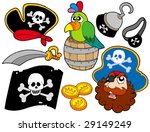 pirate collection 8 on white... | Shutterstock .eps vector #29149249